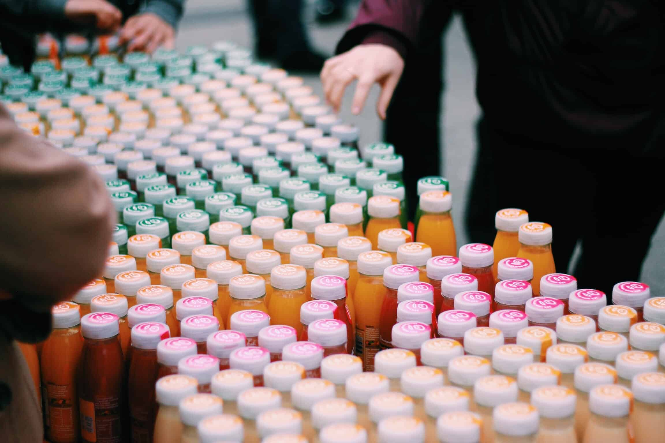 Image of Innocent juice bottles