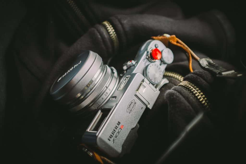 close up of Fujifilm camera
