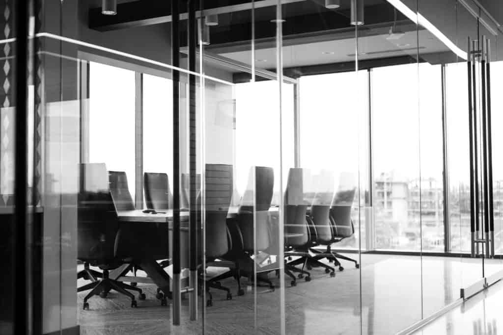 Meeting room in a fancy office