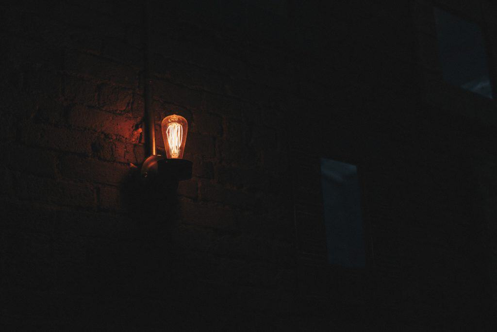 lightbulb in the dark