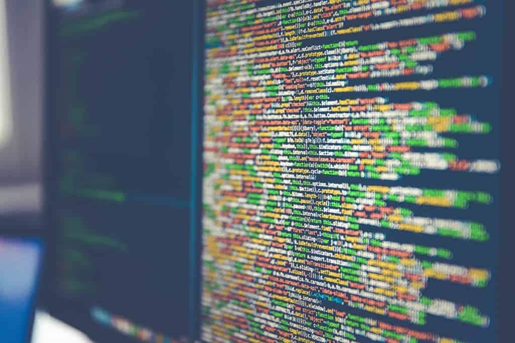 Code on a desktop