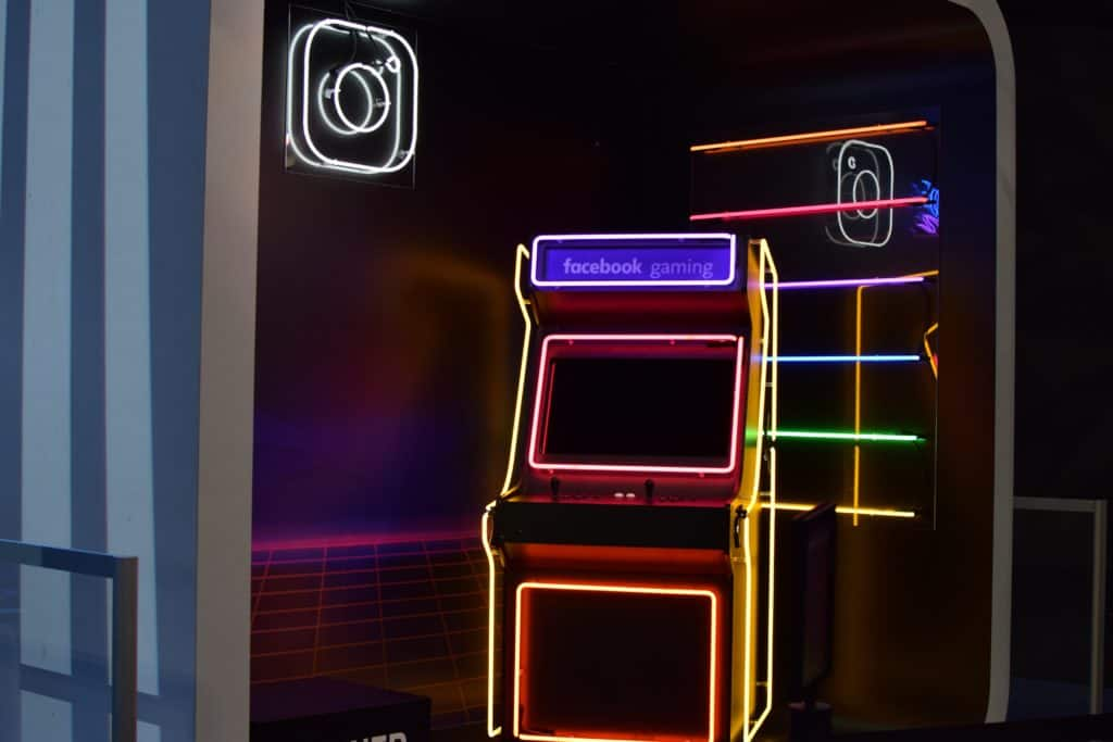 instagram and facebook arcade