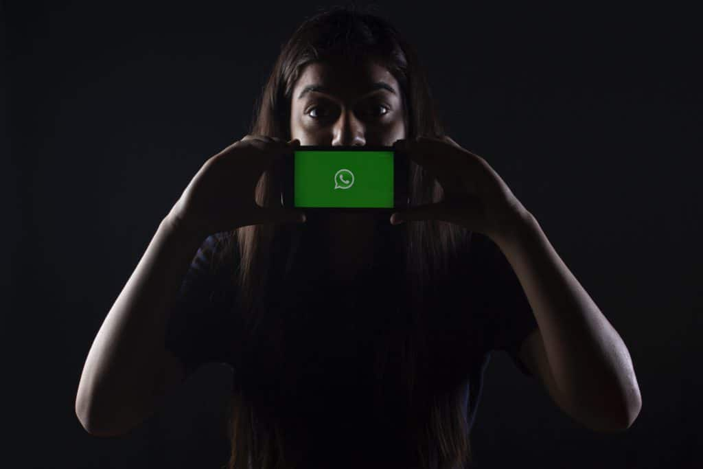 WhatsApp shown on mobile screen