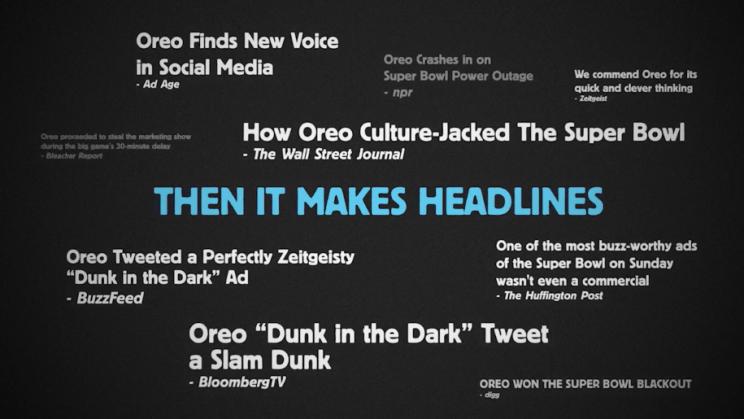 Body copy image of the Oreo newsjacking ad