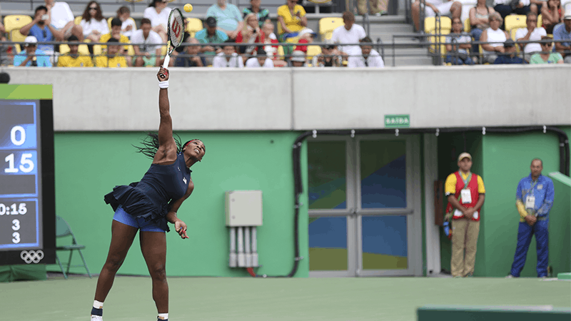 Serena Williams playing Women's Singles tennis