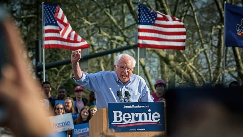 Bernie Sanders at a Rally at Pittsburgh University