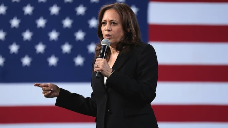 Hero image of Kamala Harris