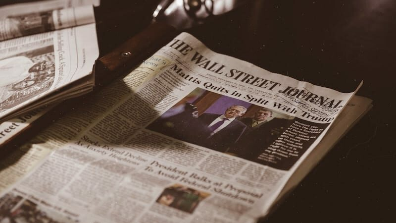 Image of the Wall Street Journal representing good media coverage