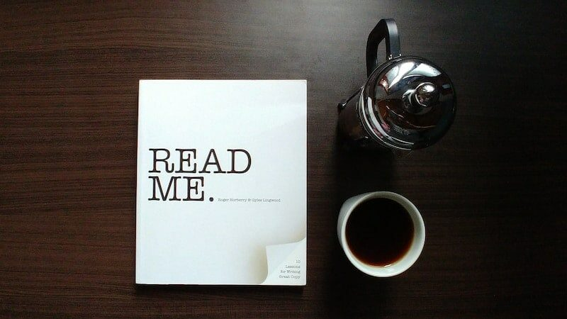 Hero image of a book saying 'Read Me'