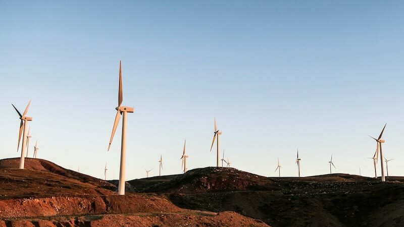 Hero image of a wind farm