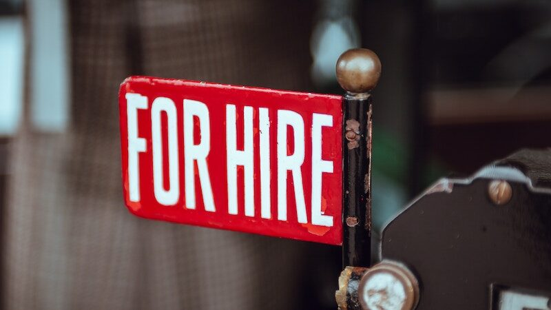 Hero image of a for hire sign