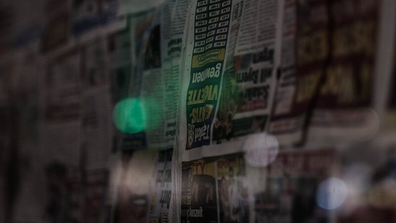 Hero images of newspapers