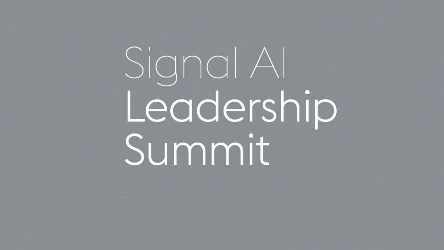 Signal AI Leadership Summit 2020